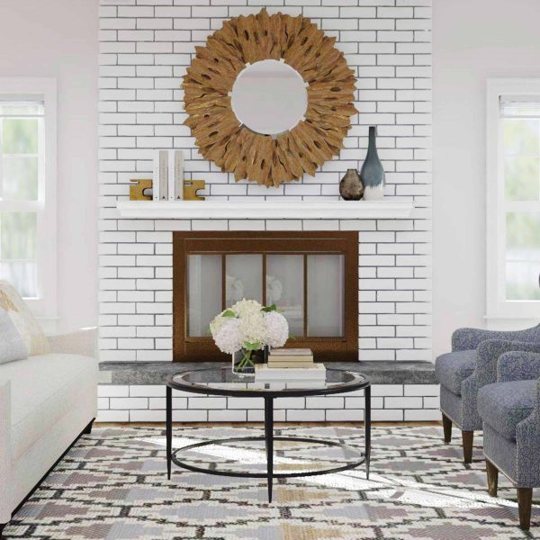 Southern Enterprises Accar Fireplace Mantel Shelf, Traditional Style, White 8