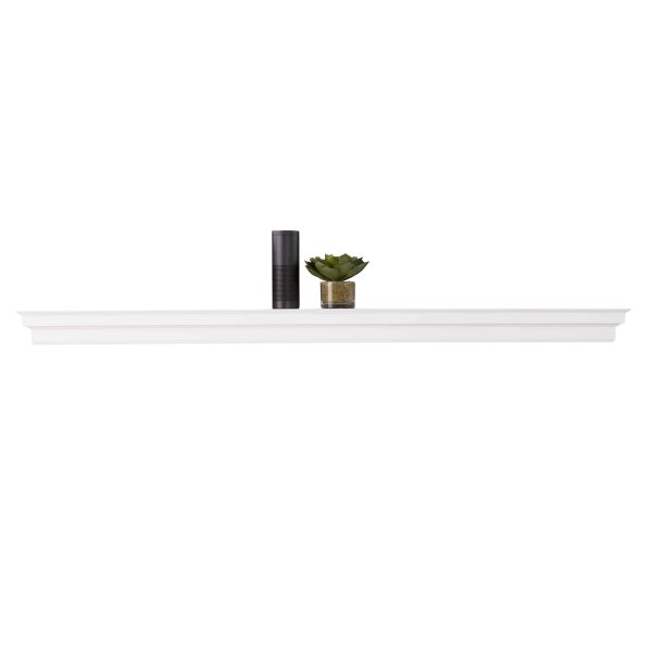 Southern Enterprises Accar Fireplace Mantel Shelf, Traditional Style, White 10