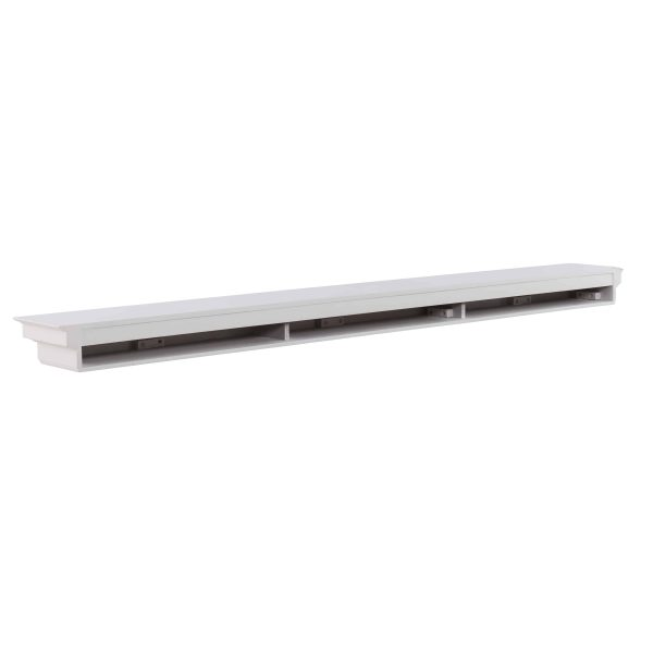 Southern Enterprises Accar Fireplace Mantel Shelf, Traditional Style, White 13