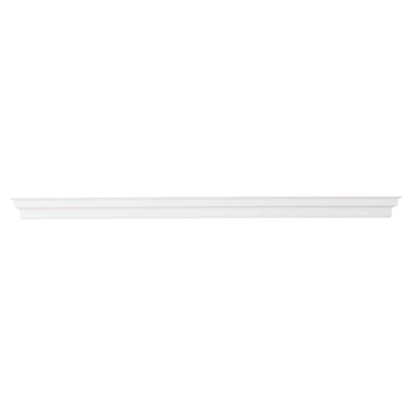 Southern Enterprises Accar Fireplace Mantel Shelf, Traditional Style, White 3