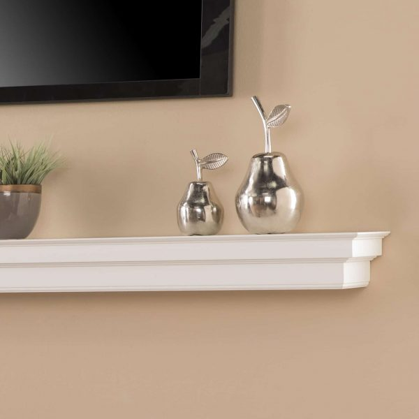 Southern Enterprises Accar Fireplace Mantel Shelf, Traditional Style, White 4