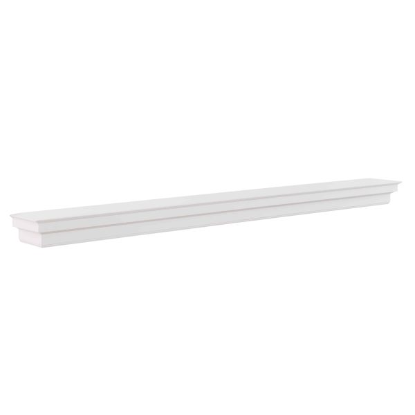 Southern Enterprises Accar Fireplace Mantel Shelf, Traditional Style, White 6