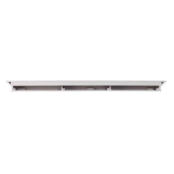 Southern Enterprises Afflo Floating Mantel/Wall Shelf, Traditional Style, White 11