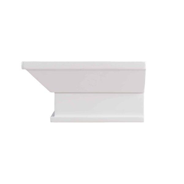 Southern Enterprises Afflo Floating Mantel/Wall Shelf, Traditional Style, White 12
