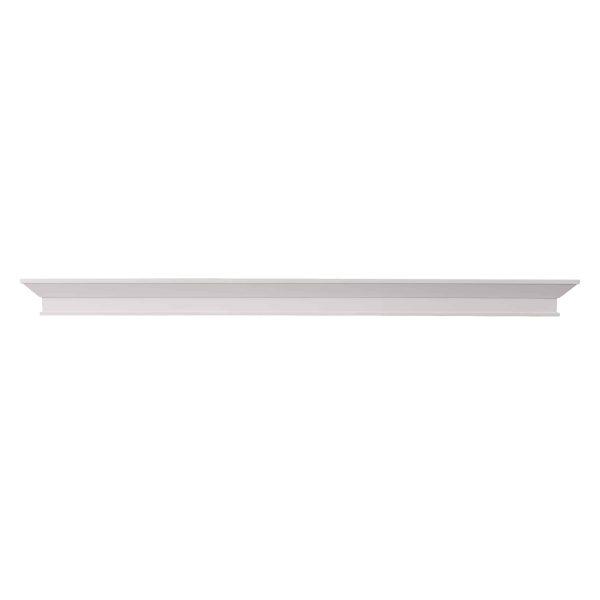 Southern Enterprises Afflo Floating Mantel/Wall Shelf, Traditional Style, White 1