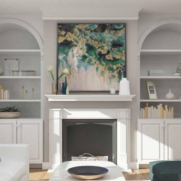 Southern Enterprises Afflo Floating Mantel/Wall Shelf, Traditional Style, White 5