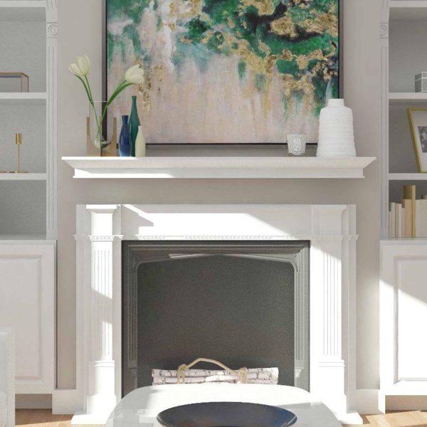 Southern Enterprises Afflo Floating Mantel/Wall Shelf, Traditional Style, White 6