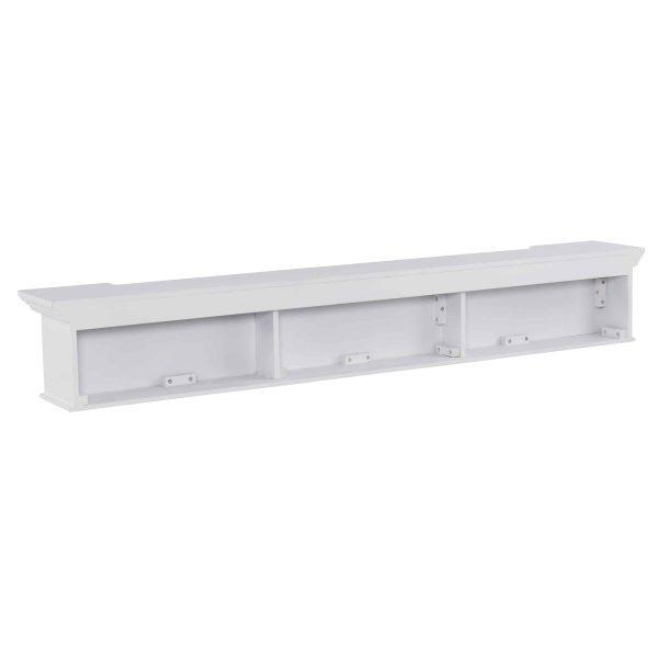 Southern Enterprises Aggeta Fireplace Mantel Shelf, Traditional Style, White 10