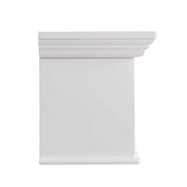 Southern Enterprises Aggeta Fireplace Mantel Shelf, Traditional Style, White 11
