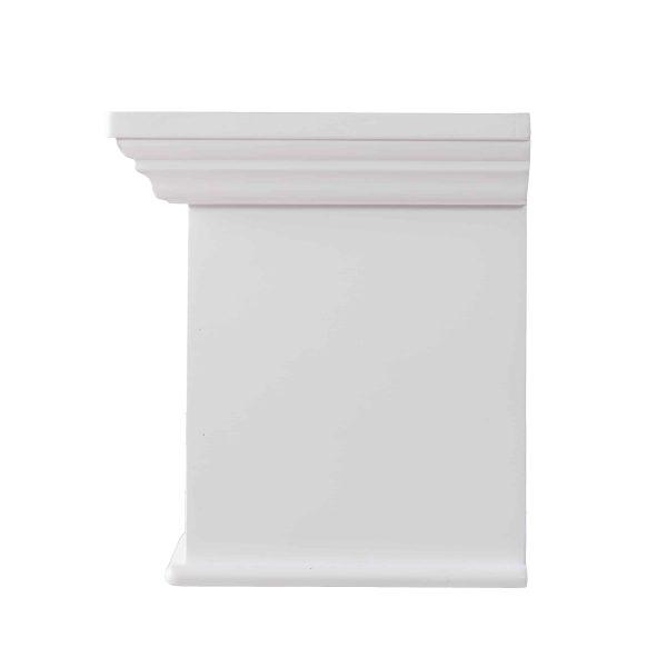 Southern Enterprises Aggeta Fireplace Mantel Shelf, Traditional Style, White 18