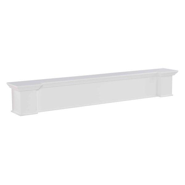 Southern Enterprises Aggeta Fireplace Mantel Shelf, Traditional Style, White 19