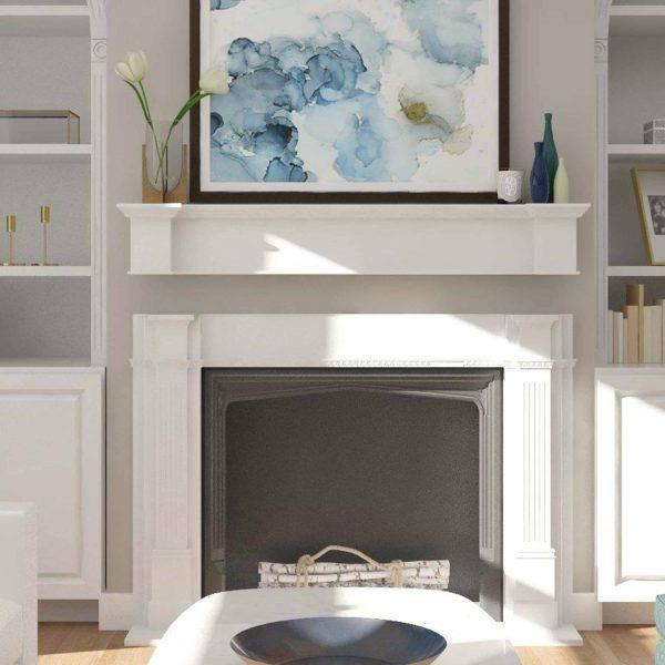 Southern Enterprises Aggeta Fireplace Mantel Shelf, Traditional Style, White 21