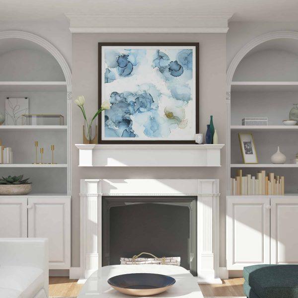 Southern Enterprises Aggeta Fireplace Mantel Shelf, Traditional Style, White 23