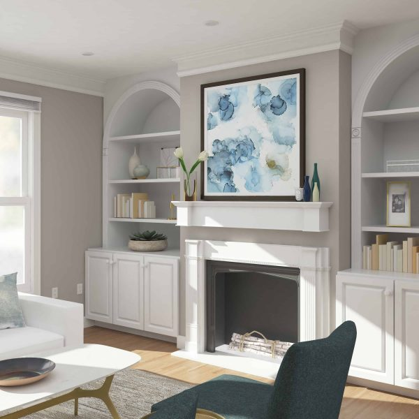 Southern Enterprises Aggeta Fireplace Mantel Shelf, Traditional Style, White 24