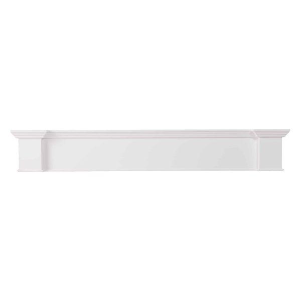 Southern Enterprises Aggeta Fireplace Mantel Shelf, Traditional Style, White 1