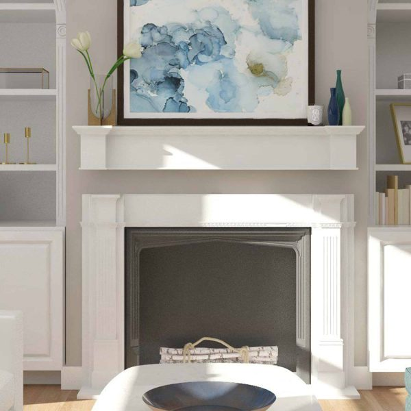 Southern Enterprises Aggeta Fireplace Mantel Shelf, Traditional Style, White 6