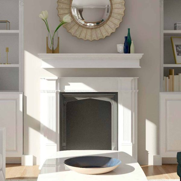 Southern Enterprises Arriflair Floating Mantel/Wall Shelf, Traditional Style, White 8