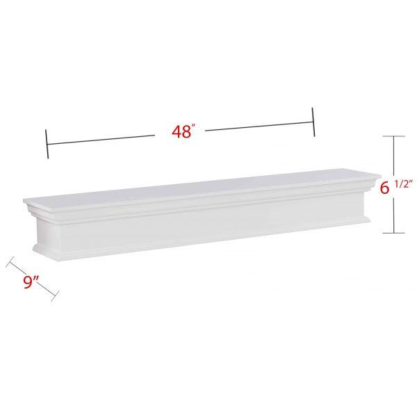 Southern Enterprises Arriflair Floating Mantel/Wall Shelf, Traditional Style, White 9