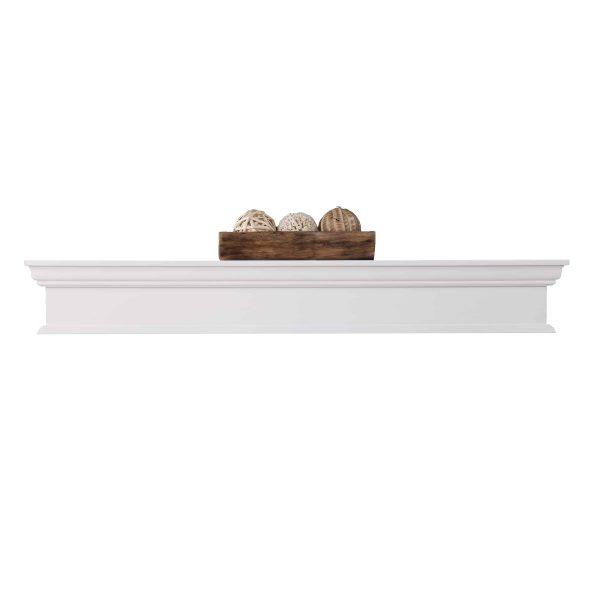 Southern Enterprises Arriflair Floating Mantel/Wall Shelf, Traditional Style, White 10