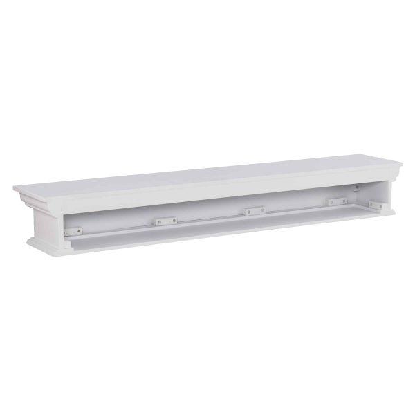 Southern Enterprises Arriflair Floating Mantel/Wall Shelf, Traditional Style, White 13
