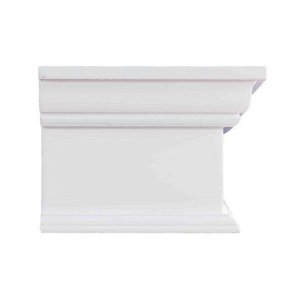 Southern Enterprises Arriflair Floating Mantel/Wall Shelf, Traditional Style, White 1