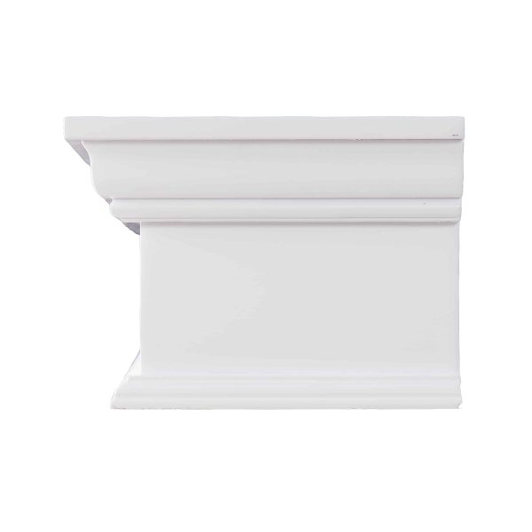Southern Enterprises Arriflair Floating Mantel/Wall Shelf, Traditional Style, White 2
