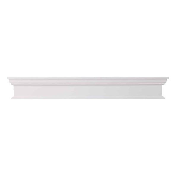 Southern Enterprises Arriflair Floating Mantel/Wall Shelf, Traditional Style, White 3