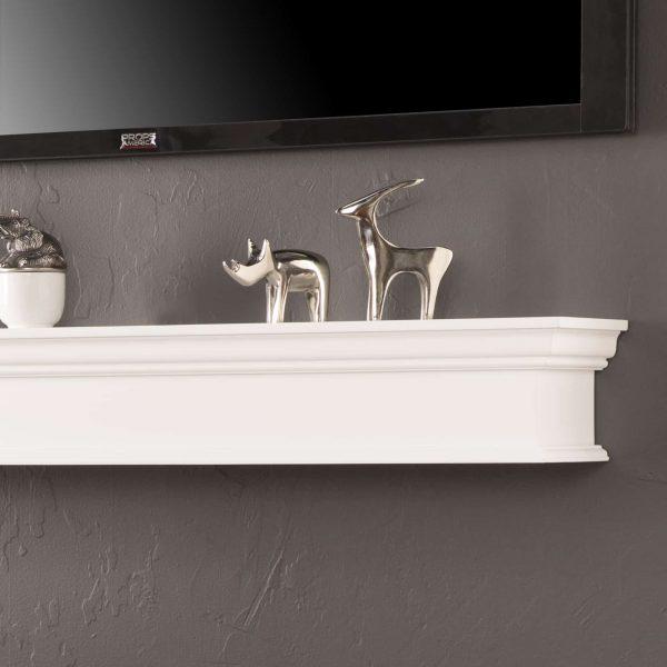 Southern Enterprises Arriflair Floating Mantel/Wall Shelf, Traditional Style, White 4