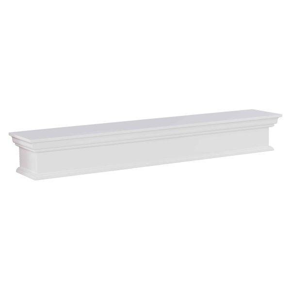 Southern Enterprises Arriflair Floating Mantel/Wall Shelf, Traditional Style, White 6