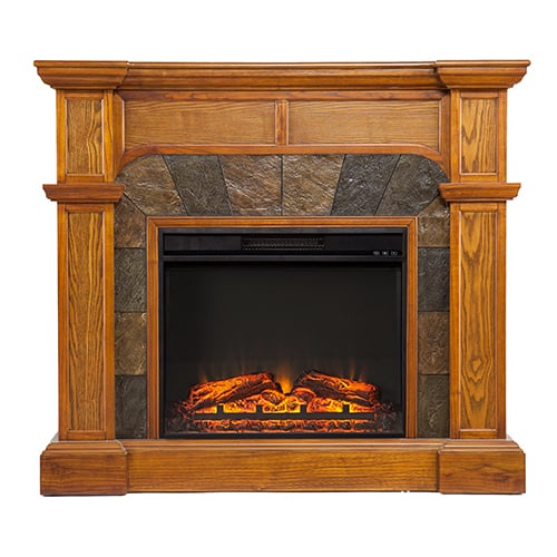 Southern Enterprises Barkley II Convertible Corner Electric Fireplace 1