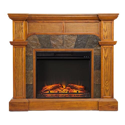 Southern Enterprises Barkley II Convertible Corner Electric Fireplace 1