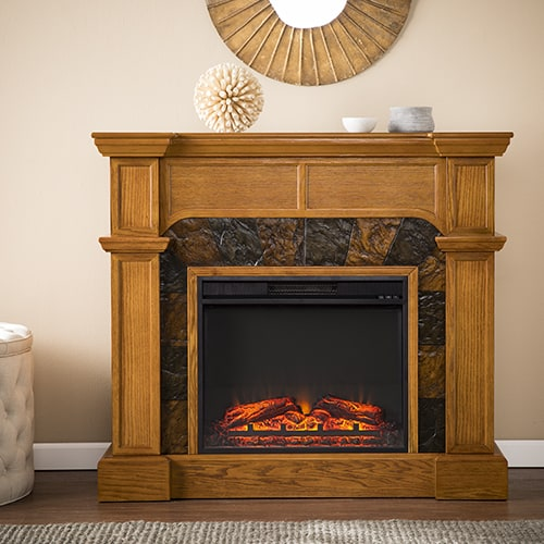 Southern Enterprises Barkley II Convertible Corner Electric Fireplace 3