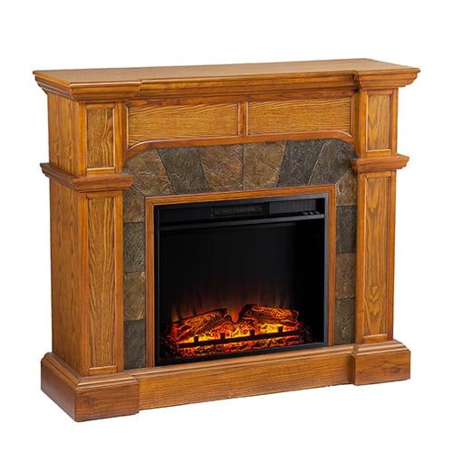 Southern Enterprises Barkley II Convertible Corner Electric Fireplace 4