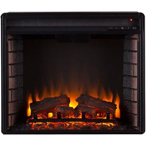 Southern Enterprises Bryer Electric Fireplace Curio Console, Espresso 3