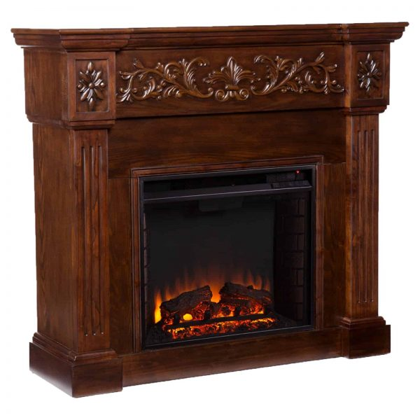 Southern Enterprises Calvert Carved Electric Fireplace 1