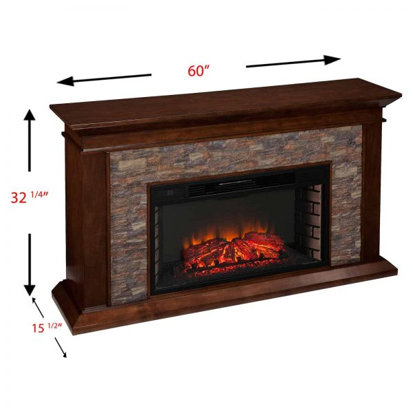 Southern Enterprises Canyon Heights Electric Fireplace 6