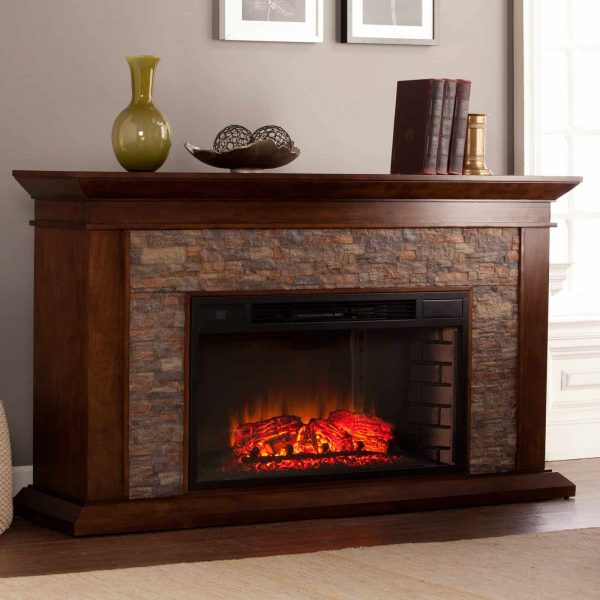 Southern Enterprises Canyon Heights Electric Fireplace