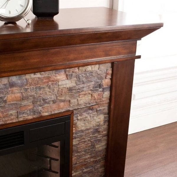 Southern Enterprises Canyon Heights Electric Fireplace in Maple 1