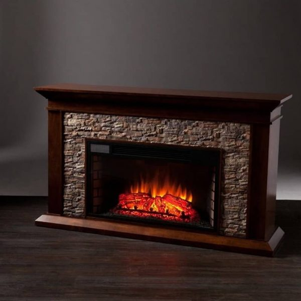 Southern Enterprises Canyon Heights Electric Fireplace in Maple 2