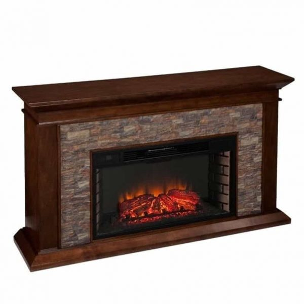 Southern Enterprises Canyon Heights Electric Fireplace in Maple 3