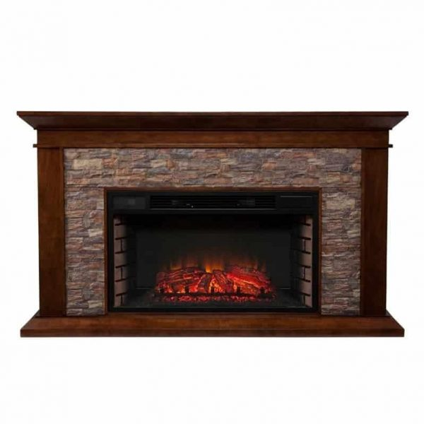 Southern Enterprises Canyon Heights Electric Fireplace in Maple 4