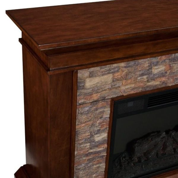 Southern Enterprises Canyon Heights Electric Fireplace in Maple 5