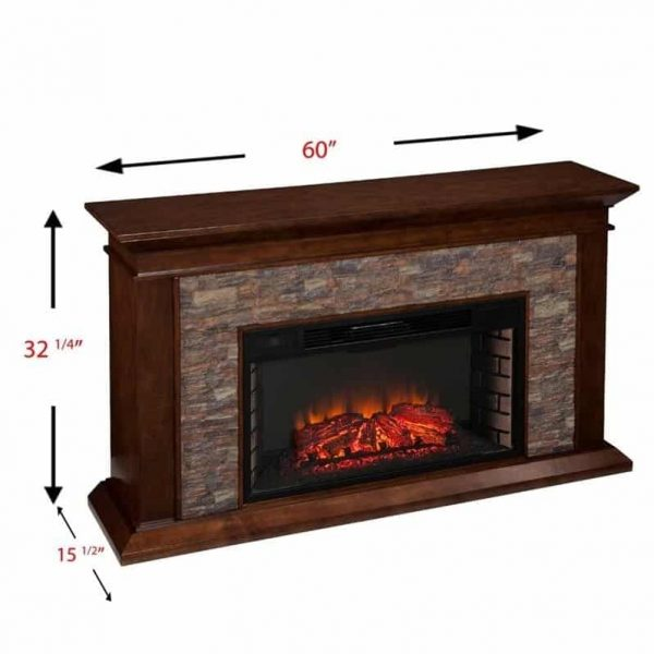 Southern Enterprises Canyon Heights Electric Fireplace in Maple 8