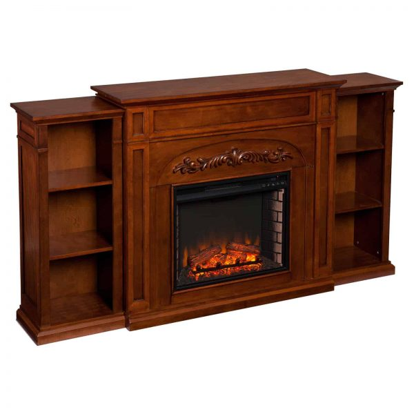 Southern Enterprises Chantilly Bookcase Electric Fireplace 2