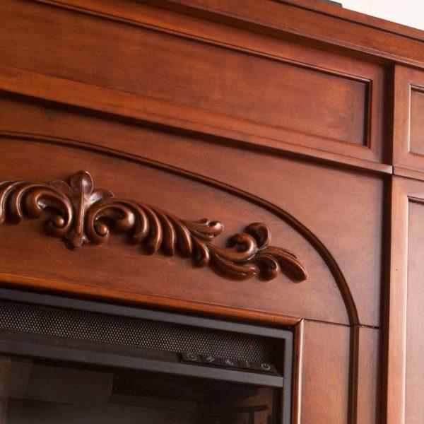 Southern Enterprises Chantilly Bookcase Electric Fireplace 3