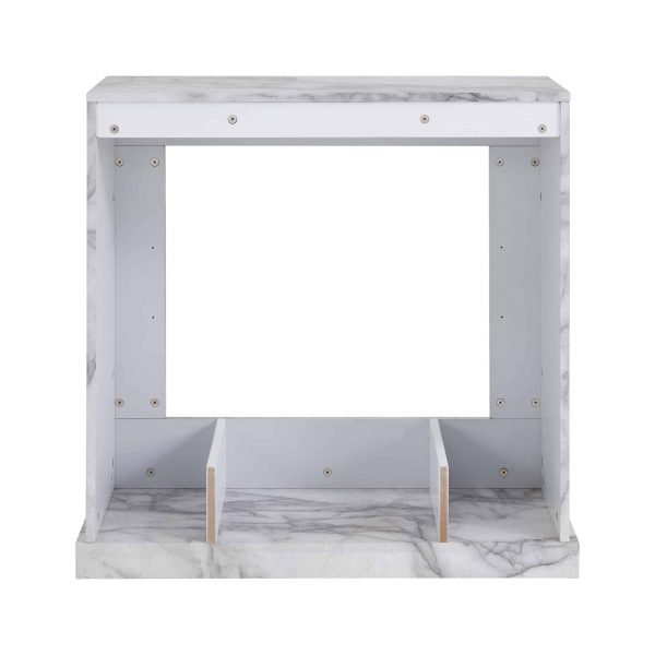 Southern Enterprises Claredale Electric Fireplace with Marble Top 7