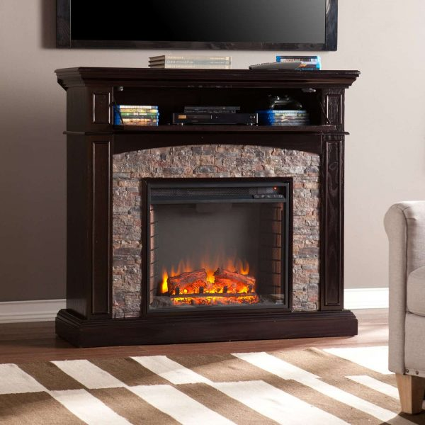 Southern Enterprises Grantham Corner Electric Fireplace 1