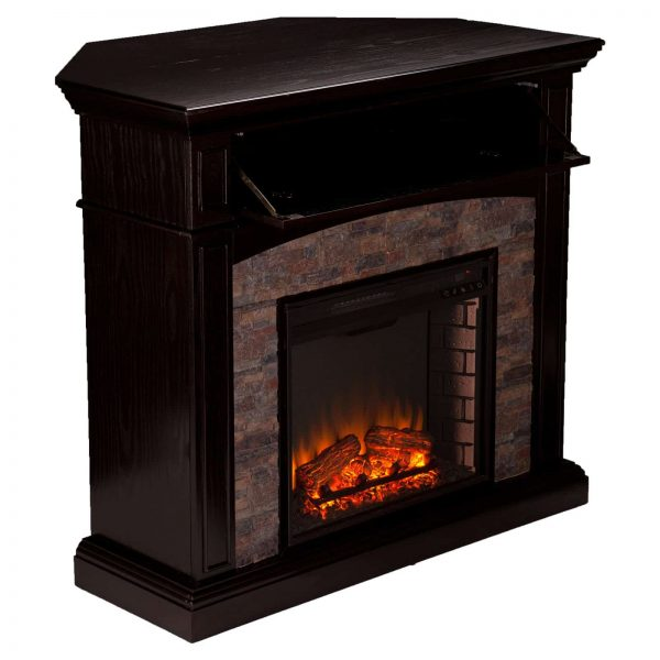 Southern Enterprises Grantham Corner Electric Fireplace 3