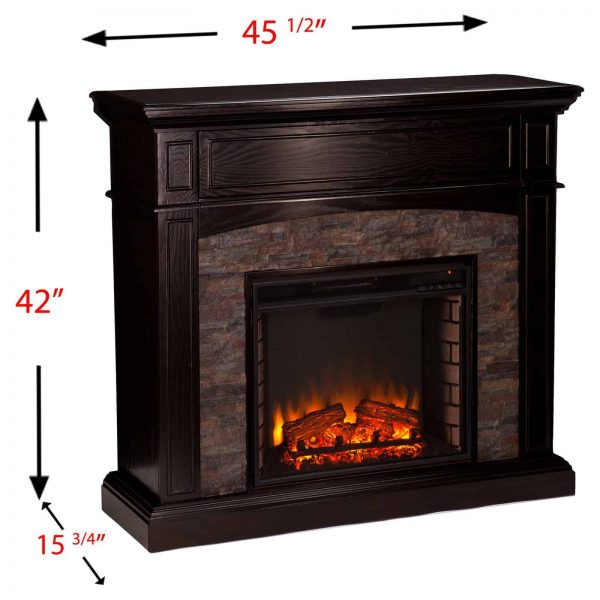 Southern Enterprises Grantham Corner Electric Fireplace 7