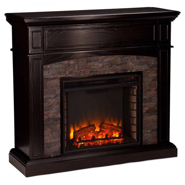 Southern Enterprises Grantham Corner Electric Fireplace 8